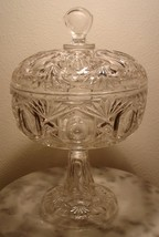 Riverside Glass Derby Footed Covered Compote Rare - $200.00