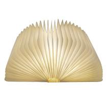 ICOCO USB Rechargeable LED Foldable Wooden Book Shape Desk Lamp Nightlig... - $37.95