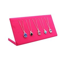 George Jimmy Pink Necklaces Display Stand Bracelets Jewelry Tray Flannel Display - $30.44