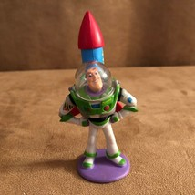 Buzz Lightyear strapped to rocket Disney PVC action figure cake topper T... - $19.50
