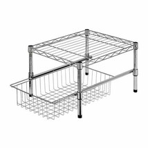 Cabinet Shelving Rack Under Chrome Metal Adjustable Organizer Room Shelf... - $42.56