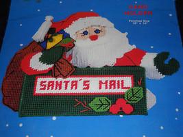 Santa Card Holder Santa's Mail Plastic Canvas Needlepoint Kit by Titan 07278 - $14.84