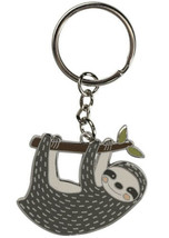 "Primitives by Kathy Key Chain - Happy Sloth Hanging from a Branch - 1.7""... - $12.82"