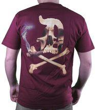 Dissizit! Mens Blunted English D x Bones Blunt Smoking Black T-Shirt Slick LA image 4