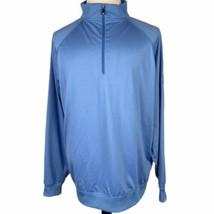 Footjoy 1/2 Zip Golf Pullover Jacket XL Sky Blue Windbreaker Lightweight HI Logo - $39.50