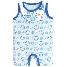 Cute Sleeveless Infant Bodysuit Toddlers Onesies Baby Romper With Bib Penguin