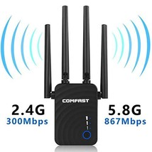1200Mbps WiFi 2.4GHz&5GHz Dual Band Repeater Wireless Signal Booster WiFi Extend