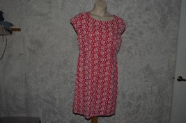 Old Navy Embroidered Floral lined Dress white flowers Pink background SZ 16 - $9.88