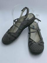 JBU By Jambu Womens 10 Pristine Gray Slingback Mary Jane Sandals Shoes - $26.99