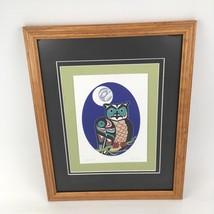 Odin Lonning Signed Art Card Print Framed Matted Night Hunter Owl Tlingi... - $178.19