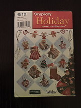 Simplicity Holiday Pattern 4810 Christmas Decor Tree Skirt Cookie Swag N... - $8.51