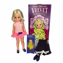 1970 Vintage Ideal Velvet Doll w/ Box and 2 ORIGINAL OUTFITS Crissy Cous... - $197.01