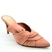 Vince Camuto Womens Amillada Suede Slip On Heeled Mules Sz 6.5M Rose Bud... - $20.77