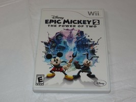 Disney Epic Mickey 2: The Power Of Two Dos Nintendo Wii 2012 E-Everyone Acción / - $16.02