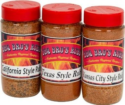 BBQ BROS RUBS {Western Style} - Ultimate Barbecue Spices Seasoning Set -... - £27.01 GBP