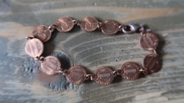 Vintage 1964 Penny Bracelet 7 inch x 1cm - $19.79