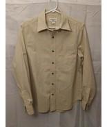 Mens Magellan Outdoors Small Long Sleeve Tan Check Button Up Shirt - $15.88