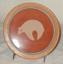 "Vintage San Ildefonso 6.5"" Red/Tan Micaceous Bear Plate Heishi Beads Dor... - $2,790.00"
