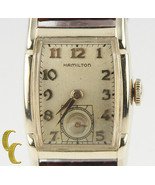 Hamilton 10k Gold Filled Hand-Winding Watch w/ Brown Leather Band Mvmt 753 - $733.32