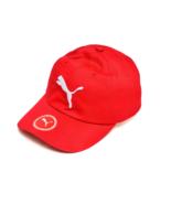 Puma Cap Red Big Cat Embroidered Logo l Hat 6 Panel 100% Cotton Unisex A... - $18.10
