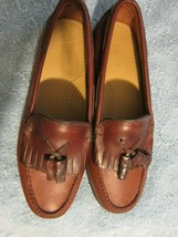 Bass Weejun Women's Shoes Med & Dk Brown Leather Casual Loafer Classic Style  - $35.90