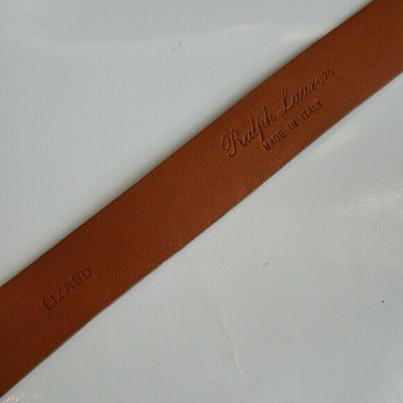 New w tag Ralph Lauren women's lizard belt size M