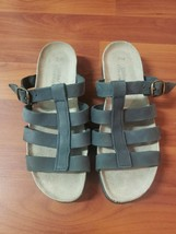 WHITE MOUNTAIN SANDALS 7 M GRAY SHOES SLIP ON OPEN TOE - $29.00