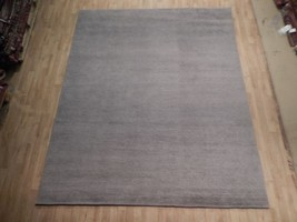 Handmade 8x10 Viscose Wool Blend Modern Minimal Design Rug - $534.48
