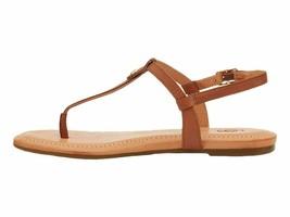 UGG Madeena Tan Women's Leather T-Strap Slingback Sandals 1119759 - $67.00