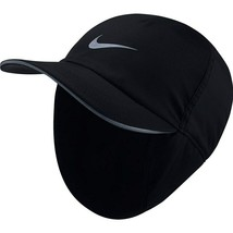 Nike AeroBill H86 Running Hat Black Winter Warm Adjustable Adults Unisex... - $29.76