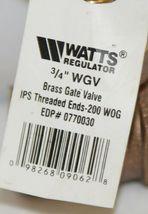 Watts Regulator 0770030 Three Quarter Inch WGV Brass Gate Valve image 5