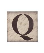 East Majik Wood English Alphabet Q Home Wall Hanging Decoration Accessory - $26.83