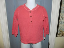 Carter's Coral Thermal Henley Long Sleeve Pullover Shirt Size 18 Months Boy's - $16.00