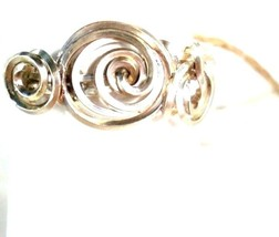 RING GOLD & SILVER SIZE 6 3/4  WIRE WRAP 3 CIRCLE - $21.78