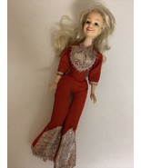 """1978 Dolly Parton Egee Goldberger Doll Barbie size 12"""" missing one shoe - $37.39"""