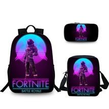 FREE SHIPPING 3pcs/set Series Fortnite Backpack School Bag Lunch bag Pen... - $76.64 CAD
