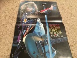 Jon Bon Jovi teen magazine poster clipping Bravo eyes closed 1980's Tiger Beat