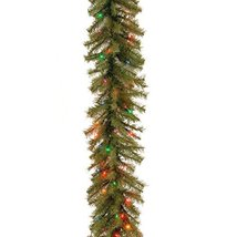 National Tree 9 Foot by 10 Inch Norwood Fir Garland with 50 Battery Operated Mul image 2