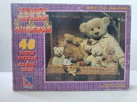 """Sure-Lox Teddy Bears Oursons 48 Piece Jigsaw Puzzle 11"""" X 9.5"""" Ages 6+ - $9.49"""