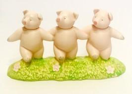 Dept 56 THREE DANCING PIGS Ceramic Figurine  - $9.99