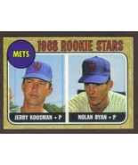 NOLAN RYAN Rookie Card RP #177 Mets RC 1968 T Free Shipping - $2.95