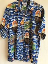 Reyn Spooner Margaritaville Shirt Jimmy Buffet Men's X-Large Shark Short... - $54.44