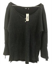 CBR Womens Long Sleeve Knit Charcoal Size Large - $21.77