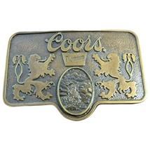 Vintage Coors Premium Brass Belt Buckle 1970s - $32.71