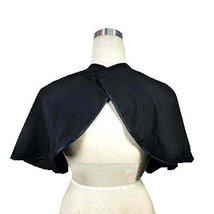 Beauty Salon Client Short Gown Waterproof Hairstylist Dye Cape Smock, Black