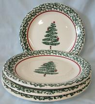 Furio FU05 Christmas Tree Dinner Plate, set of 4, Chips Read - $32.56