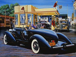 Gilmore Gas Station Metal Sign by Ken Eberts - $30.00
