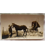 Vintage Photo Couple in Horse and Buggy - $19.99