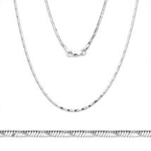 925 Silber Fischgräten Link Kette Schlange Schnur Italienisches Halskett... - £40.69 GBP+