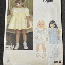 Little Vogue Sewing Pattern 2897 Toddler Girl Baby Doll Dress Panties Si... - $12.91